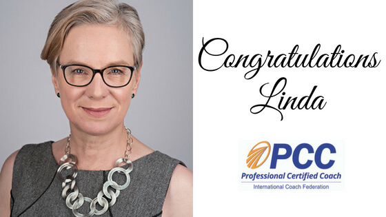 Congratulations Linda on becoming one of the few Professional Certified Coaches!